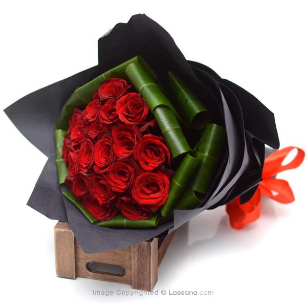 ROSE BOUQUET - 20 RED ROSES - Love & Romance - in Sri Lanka