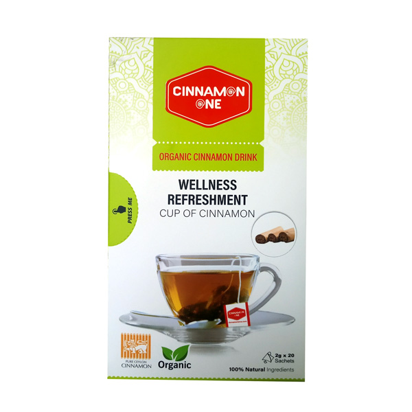 CINNAMON TEA WITH 20 SACHET PACKETS - ORGANIC 40G - Beverages - in Sri Lanka