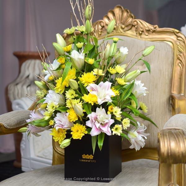 Box Of Elegant Pink Rose Lilies - Birthday - in Sri Lanka
