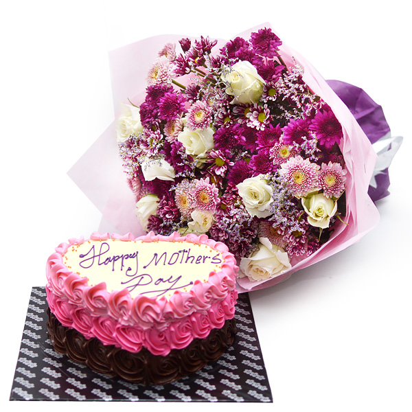 SWEET TEMPTATIONS (With Flower Bunch) - Lassana Cakes - in Sri Lanka