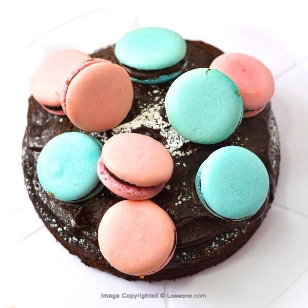 MACAROONS FUDGE CAKE - 500g (1.1 lbs) - Lassana Cakes - in Sri Lanka