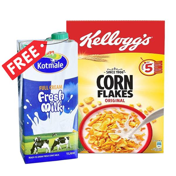 KELLOGG'S CORN FLAKES 475G WITH FREE KOTMALE  FRESH MILK 1L - Grocery - in Sri Lanka