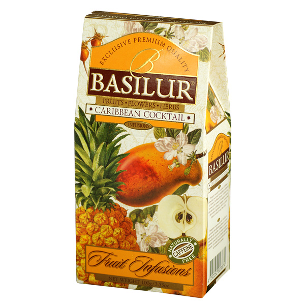 BASILUR-FRUIT INFUSIONS-CARIBBEAN COCKTAIL-24s 100g - Beverages - in Sri Lanka
