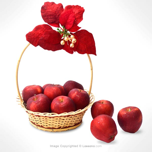 SEASONAL RED APPLE LOVER BASKET - Fruit Baskets - in Sri Lanka