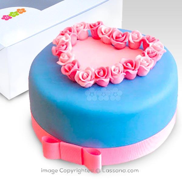 BABY ROSE RIBBON CAKE 1Kg (2.2 lbs) - Lassana Cakes - in Sri Lanka
