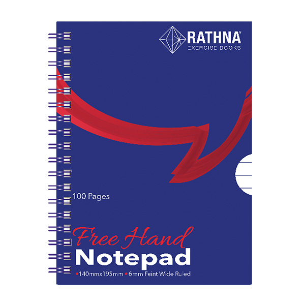 RATHNA BLUE COVER SPIRAL LONG - 100 PAGES - Note Books - in Sri Lanka