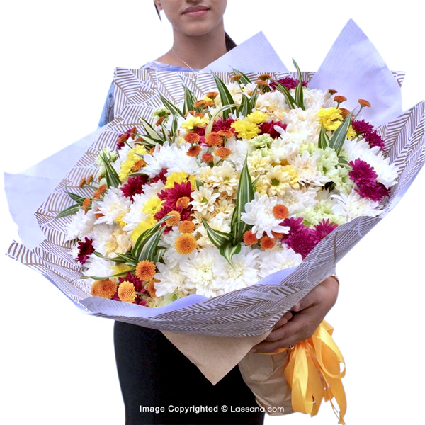 ULTIMATE HAPPINESS BUNCH - Exotic Chrysanthemums - in Sri Lanka