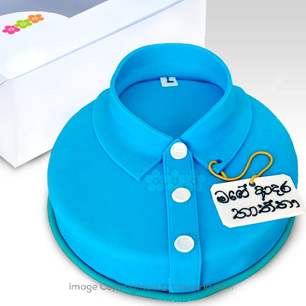 DAD S SHIRT CAKE(BLUE) 1.5Kg (3.3 lbs) - Lassana Cakes - in Sri Lanka