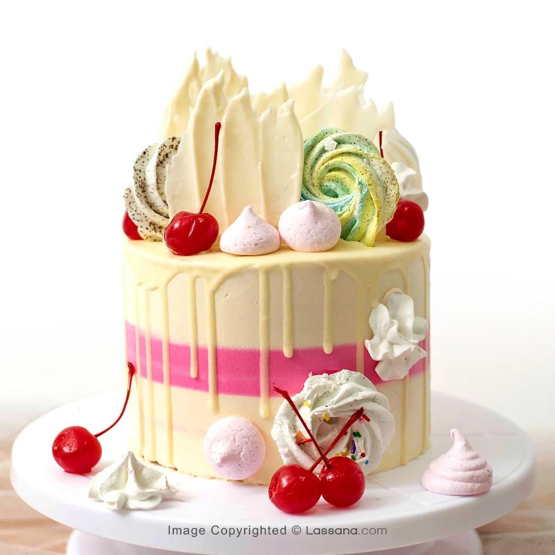 DRIP CHERRY CAKE 1.1kg - (2.4lbs) - Lassana Cakes - in Sri Lanka
