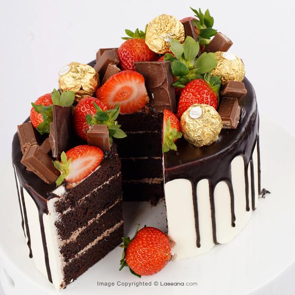 CHOCO BERRY DRIP CAKE 1.2KG (2.6LBS) - Lassana Cakes - in Sri Lanka