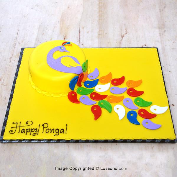 HAPPY PONGAL CAKE - (Eggless Chocolate Cake)750G (1.6LBS) - Lassana Cakes - in Sri Lanka