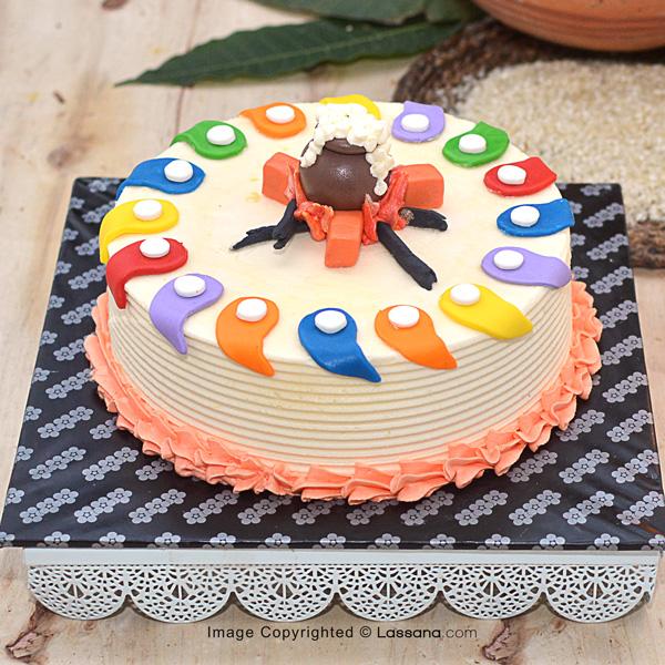 THAI PONGAL CELEBRATION CAKE - 1.2KG (2.6LBS) - Lassana Cakes - in Sri Lanka