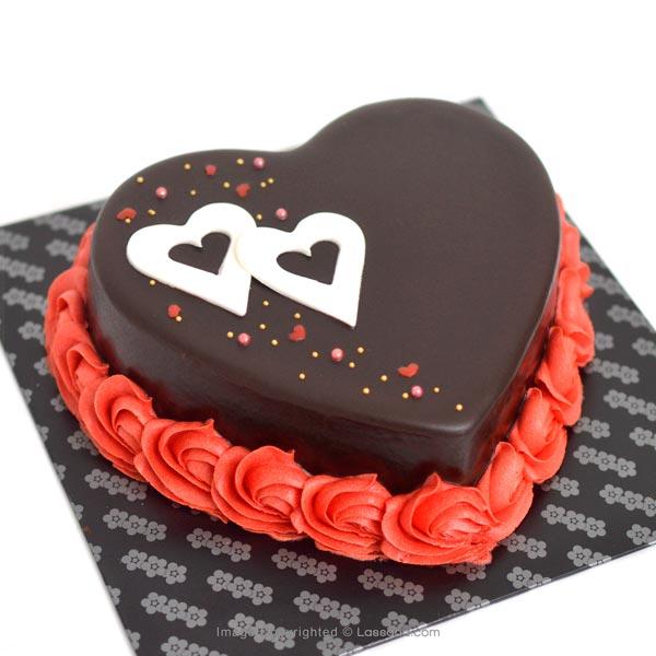 BE MINE FOREVER CHOCOLATE CAKE - 1kg (2.2lbs) - Lassana Cakes - in Sri Lanka