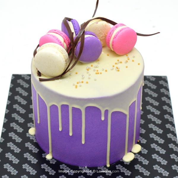 MACARONS DRIP CAKE - 1.3Kg(2.2lbs) - Lassana Cakes - in Sri Lanka
