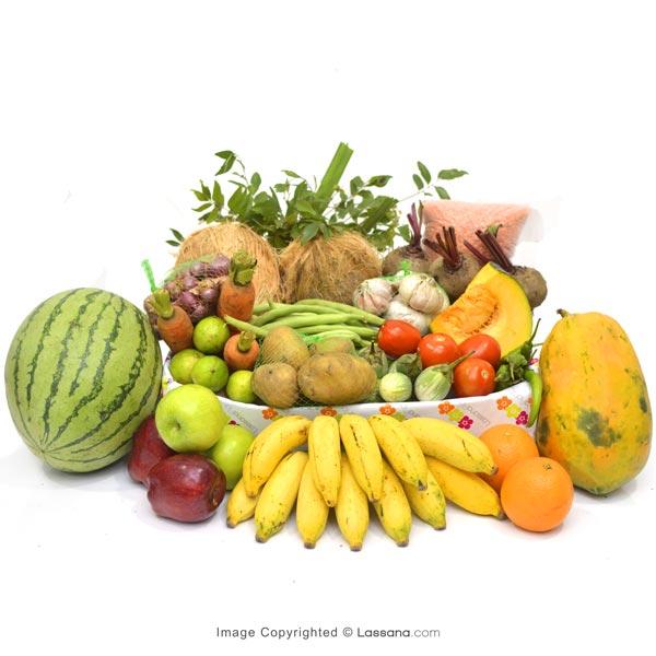 HEALTH HAMPER - REGULAR (With Flower Bunch) - Vegetables & Fruits - in Sri Lanka