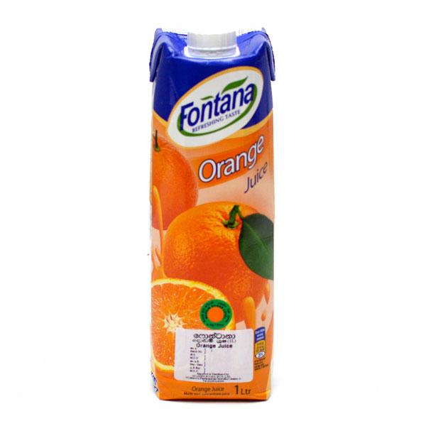 FONTANA ORANGE JUICE 100% NATURAL UHT (1LT) - Beverages - in Sri Lanka