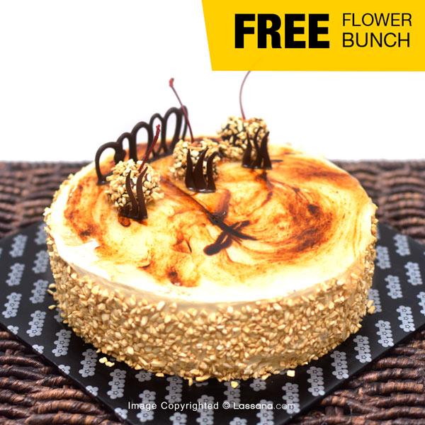 LOW-SUGAR COFFEE CAKE - 1KG (2.2 lbs) (With Flower Bunch) - Lassana Cakes - in Sri Lanka