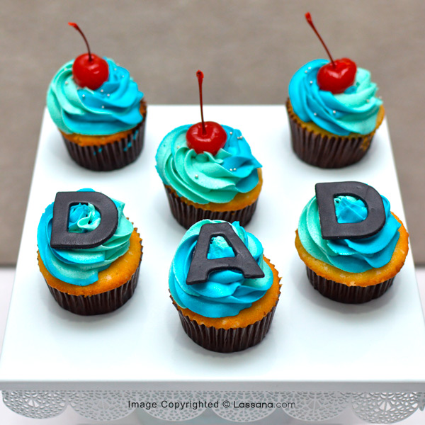 I LOVE YOU CHERRY MUCH DAD CUPCAKE - Lassana Cakes - in Sri Lanka