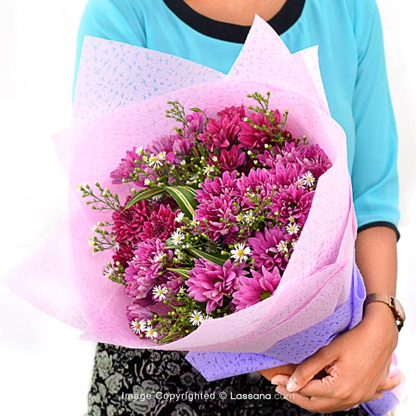ALL PINK - CHRYSANTHEMUM BUNCH - Birthday - in Sri Lanka