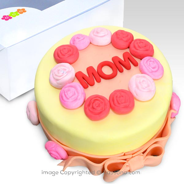 HAPPY BIRTHDAY MOM 1Kg (2.2lbs) - Lassana Cakes - in Sri Lanka