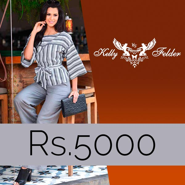 KELLY FELDER GIFT VOUCHER - RS.5000.00 - Clothing & Fashion - in Sri Lanka