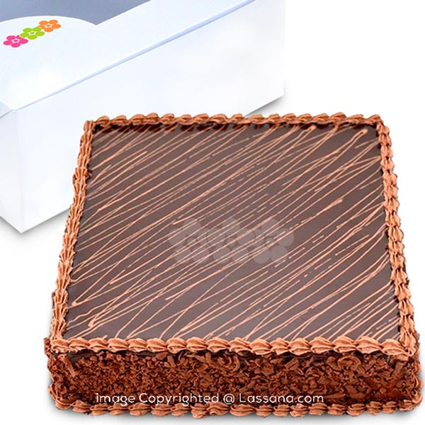 LASSANA CHOCOLATE FUDGE CAKE(SQUARE) 1Kg (2.2 lbs) - Lassana Cakes - in Sri Lanka