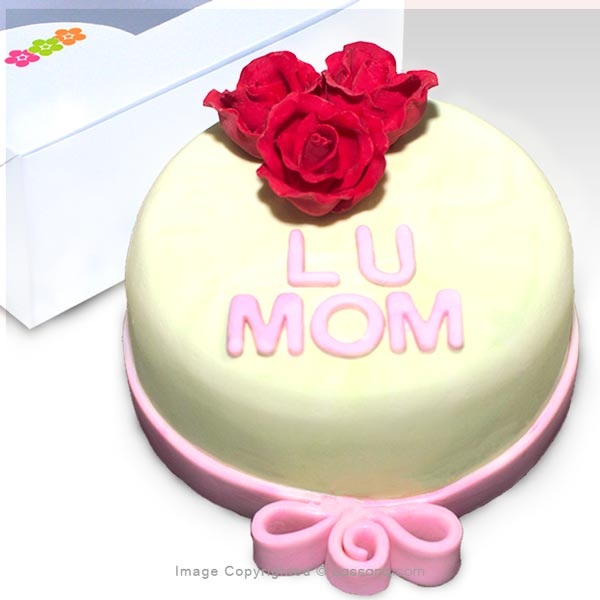 Love you Mum Cake 500g - Ribbon Cake (1.1 lbs) - Lassana Cakes - in Sri Lanka