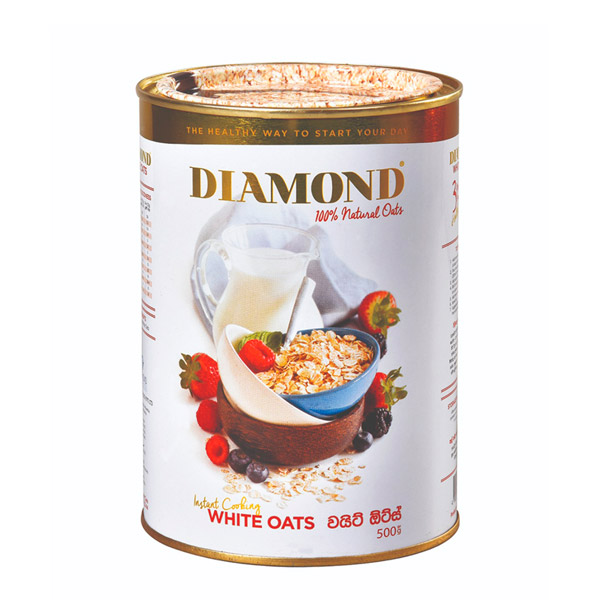 DIAMOND WHITE OATS CANNED 500G - Grocery - in Sri Lanka