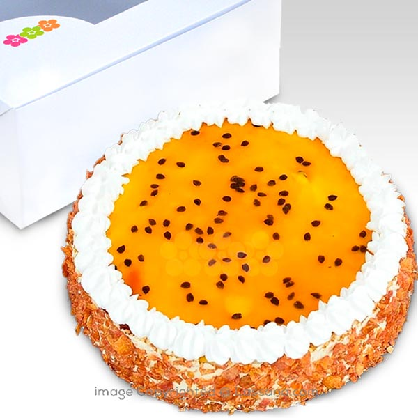 PASSION FRUIT BAKED CHEESECAKE- 1 KG (2.2 lbs) - Lassana Cakes - in Sri Lanka