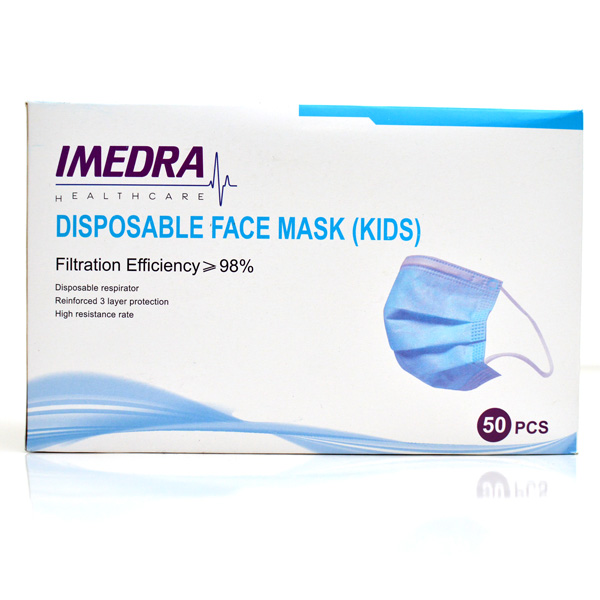 IMEDRA SURGICAL FACE MASK KIDS 3 PLY - 50PSC PACK - Personal Care - in Sri Lanka