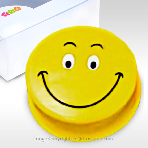Smiley Face 750g (Ribbon Cake) (1.65 lbs) - Lassana Cakes - in Sri Lanka