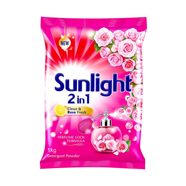 SUNLIGHT DETERGENT POWDER LEMON & ROSE - 1KG - Household Essentials - in Sri Lanka