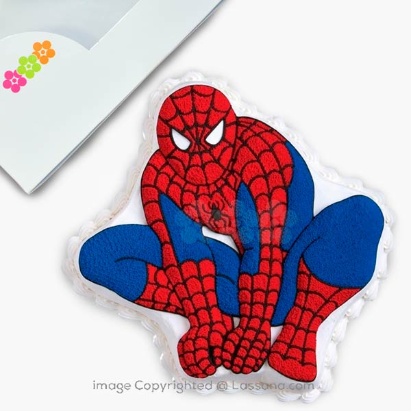 The Amazing Spider-Man Cake - 1.5Kg (3.3 lbs) - Lassana Cakes - in Sri Lanka