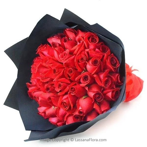 RED ROSE LOVE - 50 RED ROSES - Love & Romance - in Sri Lanka