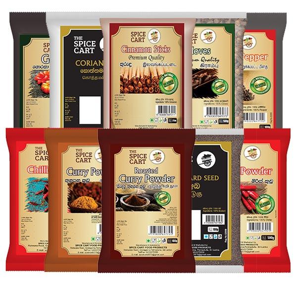 ESSENTIAL SPICE PACK - PREMIUM - Essentials Packs - in Sri Lanka