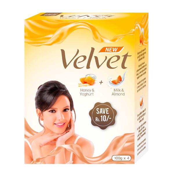 VELVET SOAP COMBO ECO PACK  2HONEY & 2MILK 400G - Personal Care - in Sri Lanka