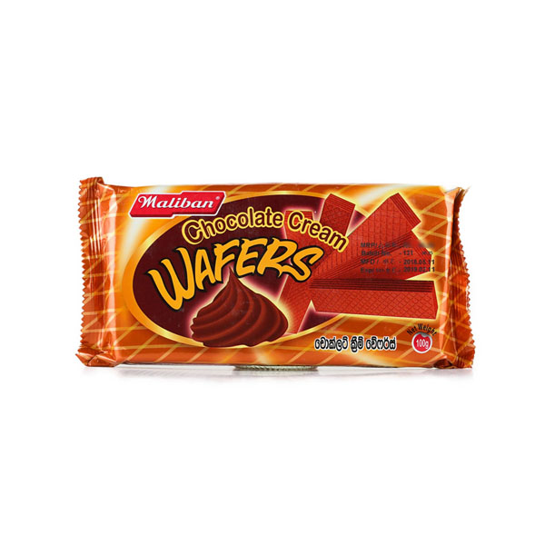 Cream Wafers-Chocolate - 90g - Snacks & Confectionery - in Sri Lanka