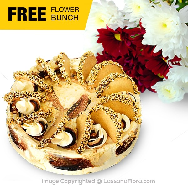 COFFEE GATEAU 1.5Kg - FREE FLOWER BUNCH - Lassana Cakes - in Sri Lanka