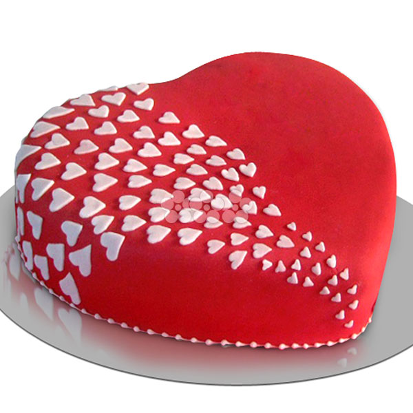 Heaven of Love Hearts Cake 1Kg (2.2 lbs) - Lassana Cakes - in Sri Lanka