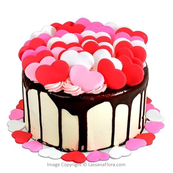 Heart Shape Chocolate Cake 500g (1.1 lbs) - Lassana Cakes - in Sri Lanka