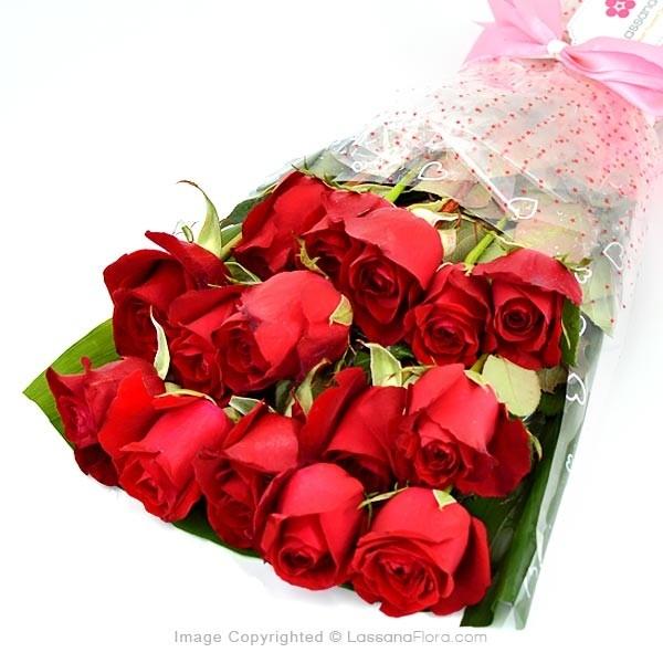 Red Roses Simplicity - Love & Romance - in Sri Lanka