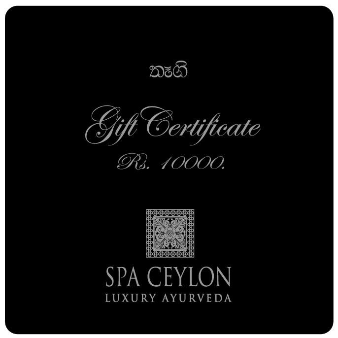 SPA CEYLON GIFT VOUCHER-RS.10000 - Spa & Saloon - in Sri Lanka